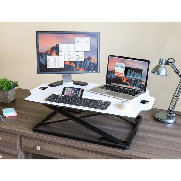 Stephany Slim Standing Desk Converter by Symple Stuff