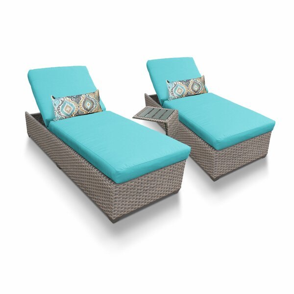 Rochford Sun Lounger Set with Cushion and Table (Set of 2) by Sol 72 Outdoor Sol 72 Outdoor