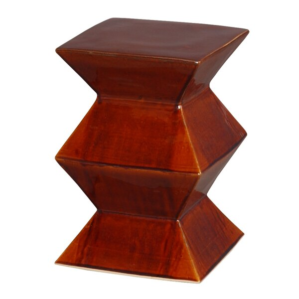 Zigzag Accent Stool by Emissary Home and Garden