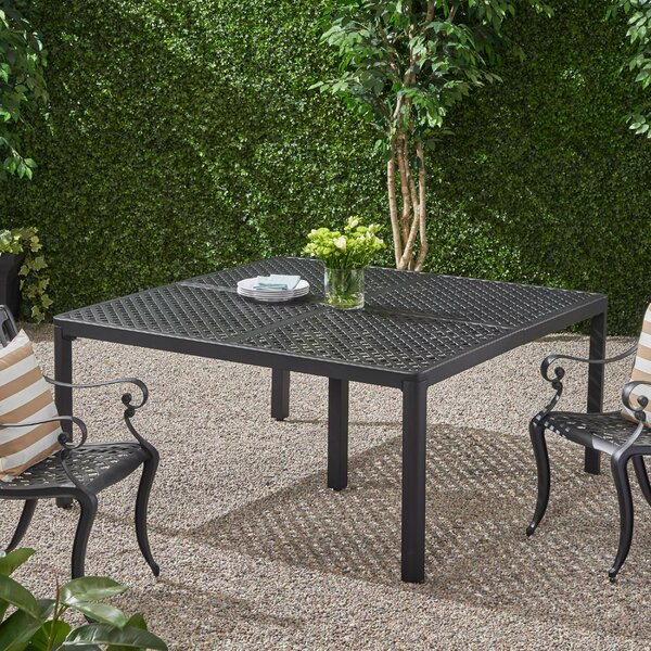 Rosalynn Cast Aluminum Dining Table By Astoria Grand