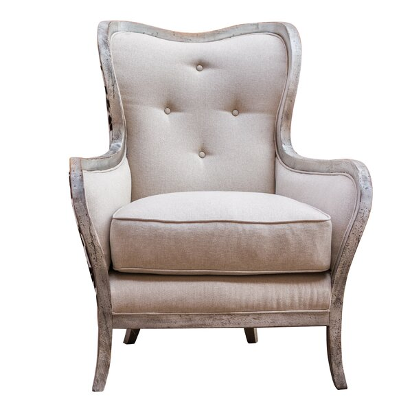 Mireya Wingback Chair by One Allium Way One Allium Way
