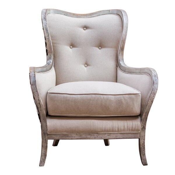 Mireya Wingback Chair by One Allium Way One Allium Way