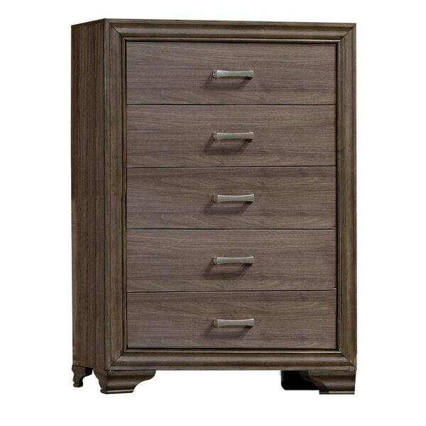 Poarch Wooden 5 Drawer Chest By Darby Home Co