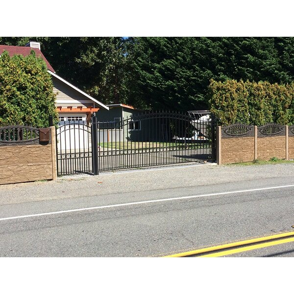 London Steel Single Sliding Driveway Gate by ALEKO