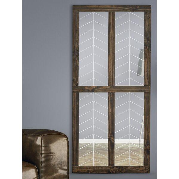 Window Wood Framed Wall Mirror by Majestic Mirror