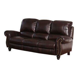 Tanguay Leather Reclining Sofa