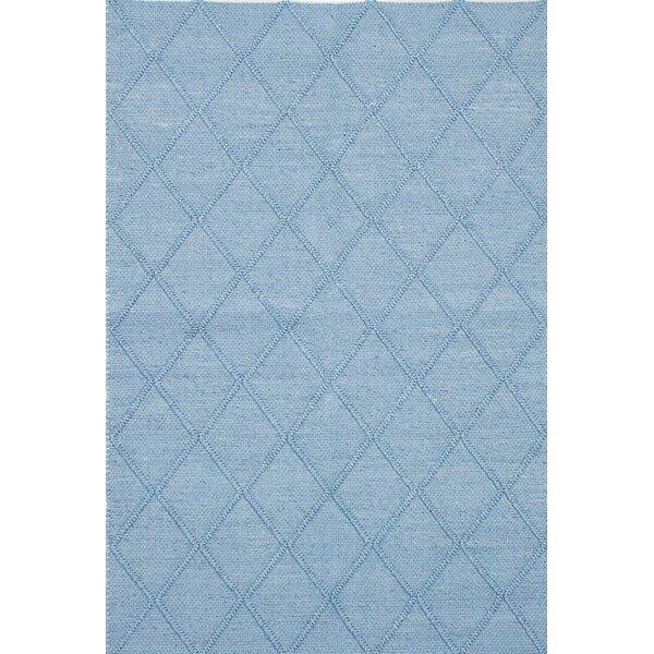 Diamond Handmade Blue Area Rug by ECARPETGALLERY