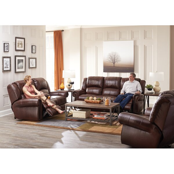 Best #1 Messina Leather Reclining Loveseat By Catnapper Best