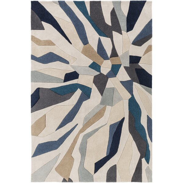 Tuten Teal/Navy Area Rug by Wade Logan