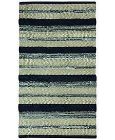 Palmer Cotton Indigo blue/Gray Area Rug by Jessica Simpson Home