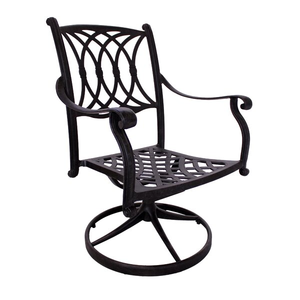 Islais Swivel Patio Dining Chair by Darby Home Co