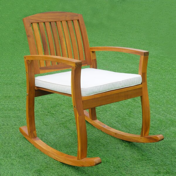 Nyasia Outdoor Rocking Chair with Cushions by August Grove