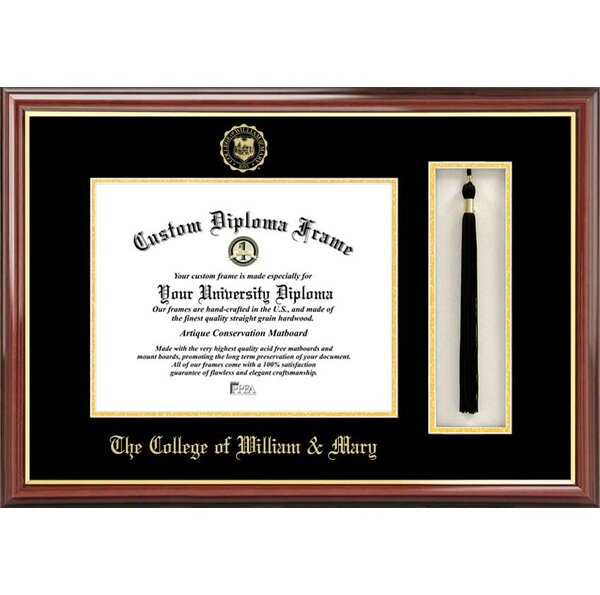 NCAA College of William and Mary Tassel Box and Diploma Picture Frame by Campus Images