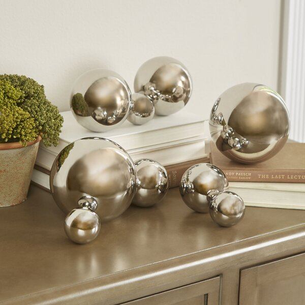 9 Piece Iron Decorative Ball Sculpture Set by Willa Arlo Interiors