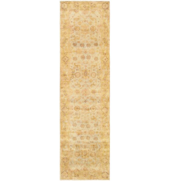 Oushak Hand-Knotted Wool Light Blue/Gold Area Rug by Pasargad