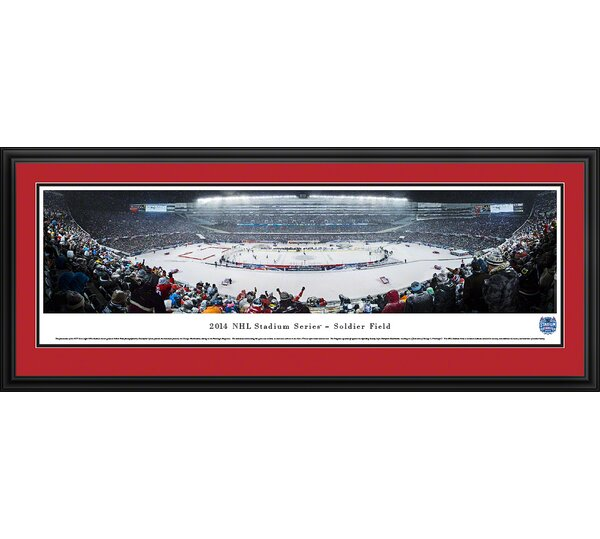 NHL 2014 Stadium Series - Blackhawks by Christopher Gjevre Framed Photographic Print by Blakeway Worldwide Panoramas, Inc