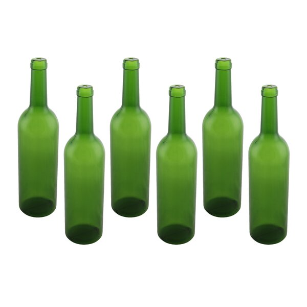 Plastic Wine Bottle Empty Display (Set of 6) by Wine Bodies