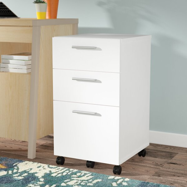 Magdalena 3 Drawer Mobile Filing Cabinet by Latitude Run