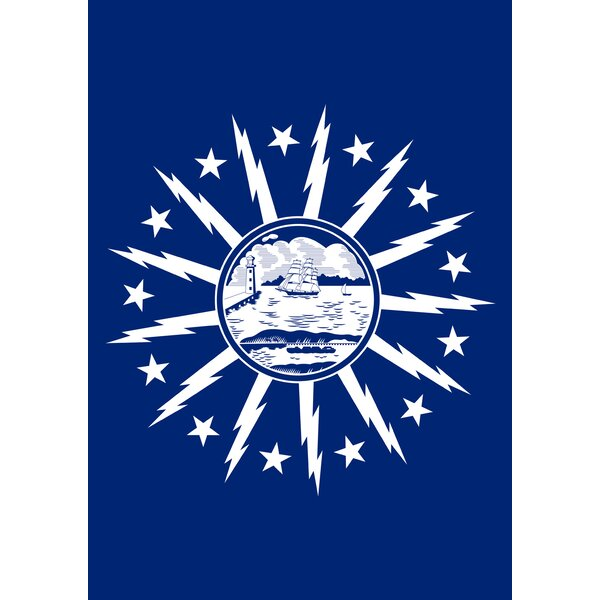 Buffalo City Flag Garden flag by Toland Home Garden