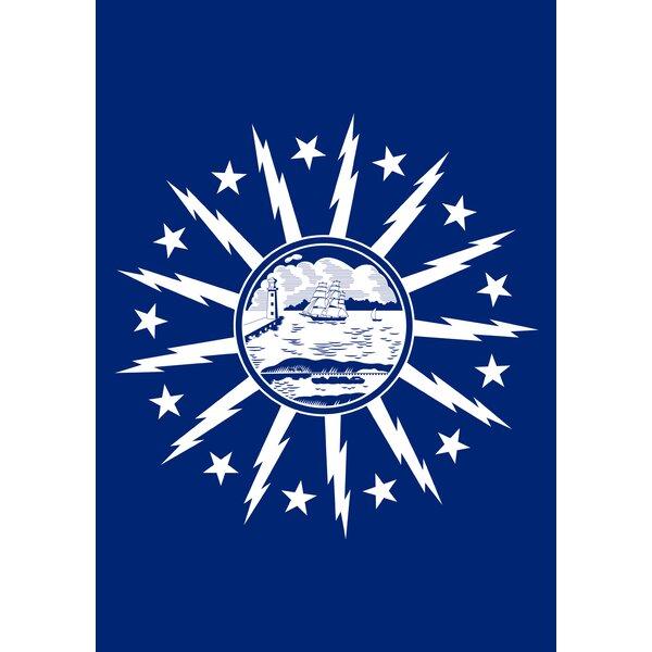 Buffalo City Flag Garden flag by Toland Home Garden