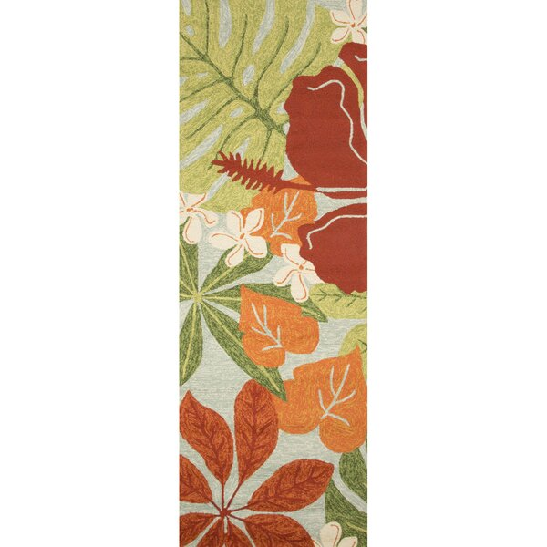 Artemi Hand-Hooked Red/Green Indoor/Outdoor Area Rug by Bay Isle Home
