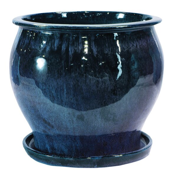 Newcomb Glazed Ceramic Pot Planter (Set of 2) by World Menagerie