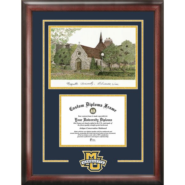NCAA Marquette Eagles Spirit Graduate Diploma Picture Frame by Campus Images