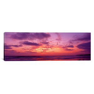 'Clouds in the Sky at Sunset, Pacific Beach, San Diego, California' Photographic Print on Canvas by East Urban Home