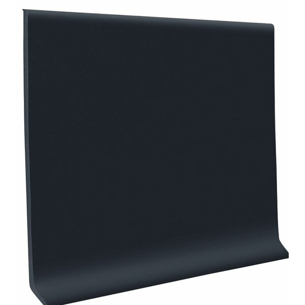 0.08 x 48 x 6 Cove Molding in Black (Set of 30) by ROPPE