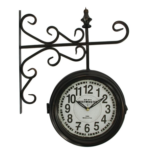 Double Sided Wall Clock by Yosemite Home Decor