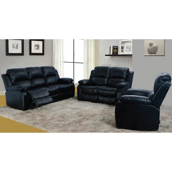 Aarush 3 Piece Reclining Living Room Set by Red Barrel Studio