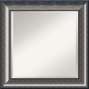 Amanti Art Quicksilver Square Wall Mirror