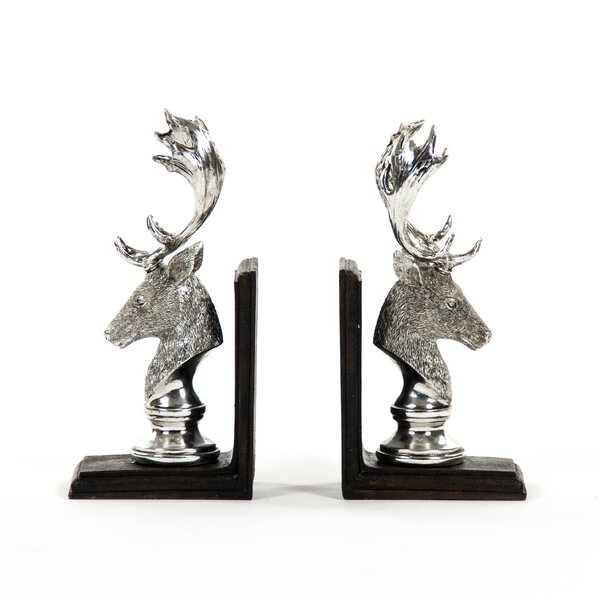 Deer Head Bookend (Set of 2) by Zentique
