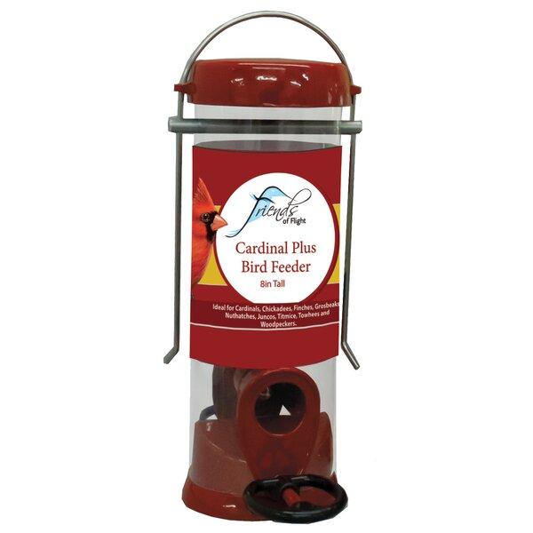 Cardinal Plus Tube Bird Feeder by Friends of Flight