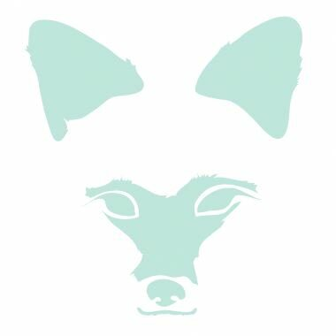 Animal Faces Fox Stretched Canvas Art by Avalisa