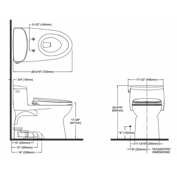 Supreme II High Efficiency 1.28 GPF Elongated One-Piece Toilet by Toto