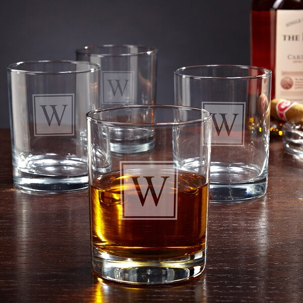 Eastham Personalized 10 oz. Rock Glass (Set of 4) by Home Wet Bar