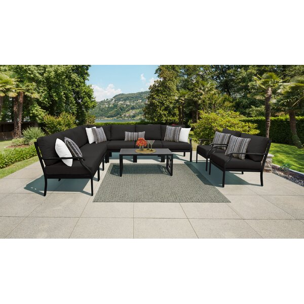 Kathy Ireland Homes & Gardens Madison Ave. 10 Piece Outdoor Wicker Patio Furniture Set 10a by Kathy Ireland Home & Gardens by TK Classics