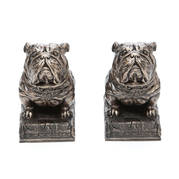 Bulldog Mascot Bookend (Set of 2) by Design Toscano