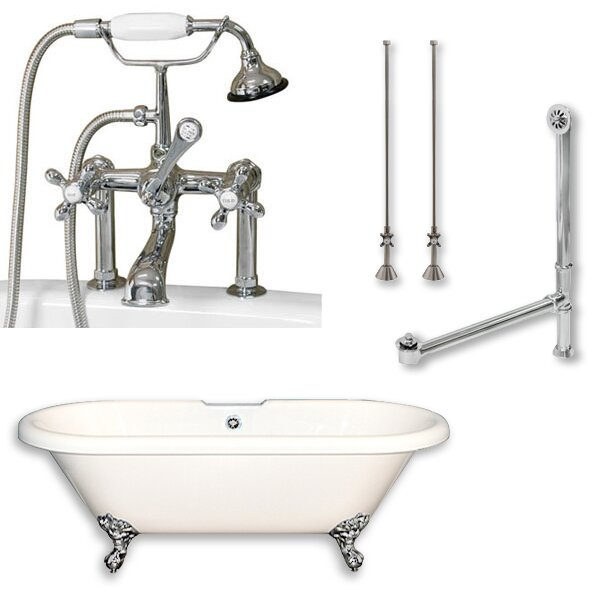 70 x 30 Clawfoot Soaking Bathtub by Cambridge Plumbing