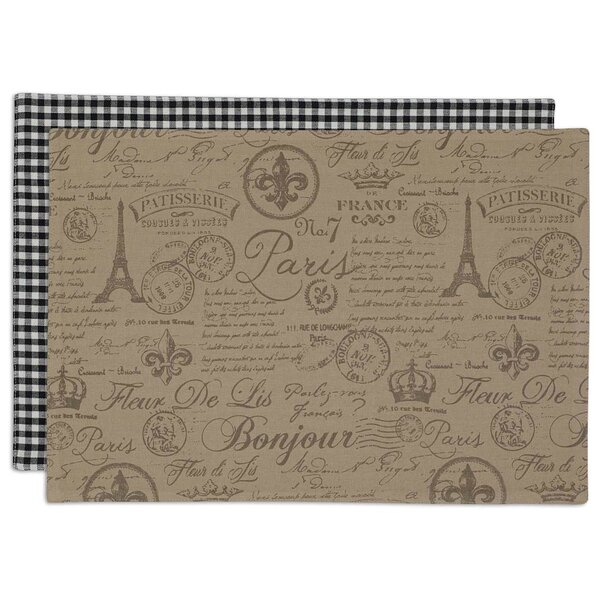 Paugh Flourish Printed Placemat (Set of 6) by One Allium Way