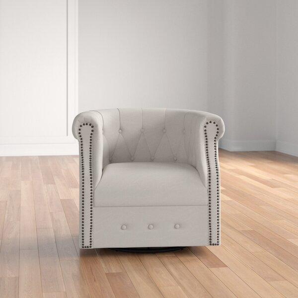 Lought Swivel Barrel Chair by Three Posts Three Posts