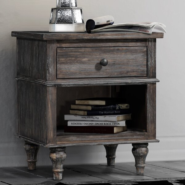 Johnson 1 Drawer Nightstand by Feminine French Country