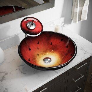 Price comparison Foil Undertone Glass Circular Vessel Bathroom Sink ByMR Direct