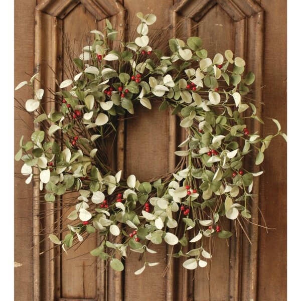 Dollar 24 Plastic Wreath by Gracie Oaks