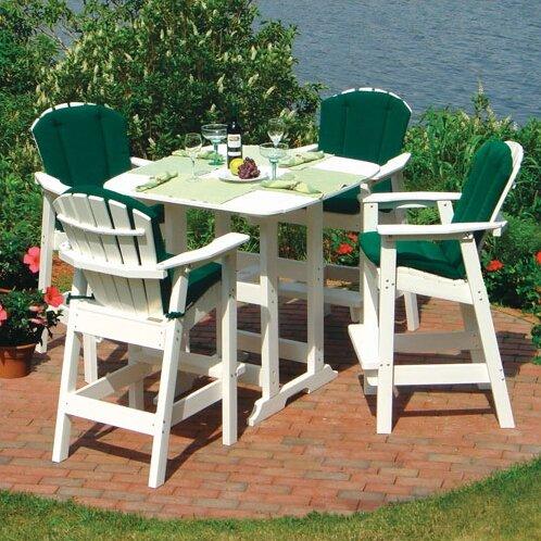 Seaside Casual Adirondack 5 Piece Bar Height Dining Set Reviews