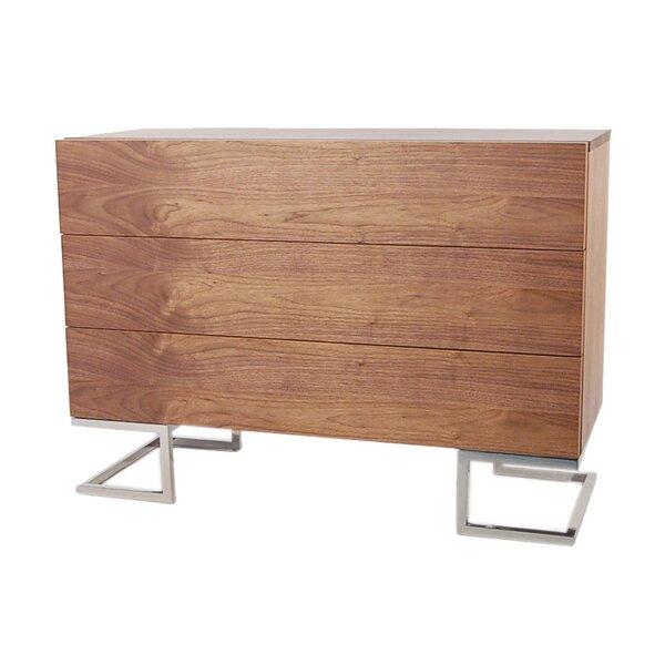 Domingo 3 Drawer Dresser by Wade Logan