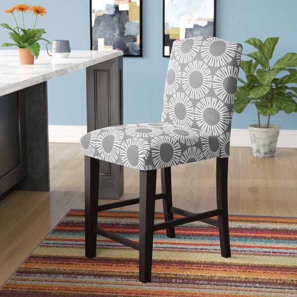Edford Arched Medallion 26 Bar Stool by Wrought Studio