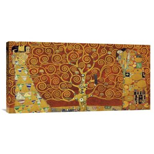 'Tree of Life Red Variation' by Gustav Klimt Painting Print on Wrapped Canvas by Global Gallery