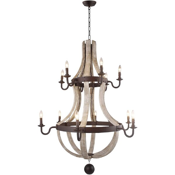Caufield 12 - Light Candle Style Empire Chandelier By Rosalind Wheeler